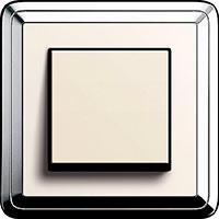 GIRA, ClassiX, Цвет: Хром/Кремовый