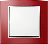 Berker B.3, Цвет: Красный/полярная белизна