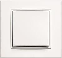 Berker B.7, Рамка: полярная белизна, Вставка: полярная белизна матовый