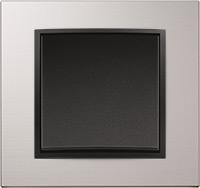 Berker B.7, Рамка: алюминий, Вставка: антрацит матовый