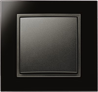 Berker B.7, Рамка: белый, Вставка: антрацит матовый