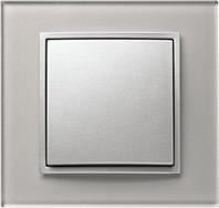 Berker B.7, Рамка: алюминий стекло, Вставка: антрацит матовый