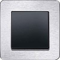 Berker Q.7, Нержавеющая сталь/Черный