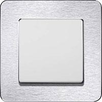 Berker Q.7, Нержавеющая сталь/Полярная белизна
