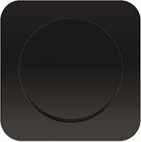 Berker R.1, Рамка: черный. Вставка: черный. пластик