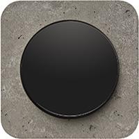 Berker R.1, Рамка: серый. Вставка: черный. Бетон шлифованный