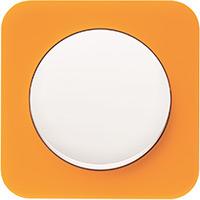 Berker R.1, Рамка: оранжевый. Вставка: полярная белизна. Акрил прозрачный