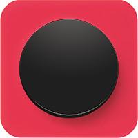 Berker R.1, Рамка: красный. Вставка: черный. Акрил прозрачный