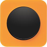 Berker R.1, Рамка: оранжевый. Вставка: черный. Акрил прозрачный