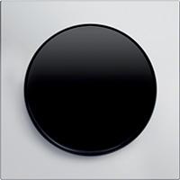 Berker R.8, Рамка: анодированный алюминий. Вставка: черный