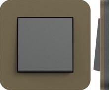 Gira, E3, Цвет: Дымчатый матовый / Основание антрацит