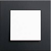 GIRA, Esprit, Цвет: Черный алюминий / Белый матовый