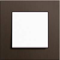 GIRA, Esprit, Цвет: Коричневый алюминий / Белый матовый