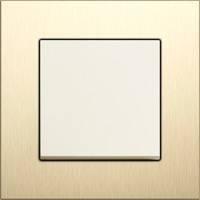 GIRA, Esprit, Цвет: Алюминий-светлое золото / Кремовый глянцевый