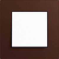 GIRA, Esprit, Цвет: Коричневый Linoleum-Multiplex / Белый матовый