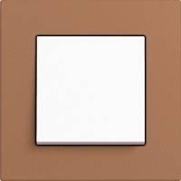 GIRA, Esprit, Цвет: Светло-Коричневый Linoleum-Multiplex / Белый матовый