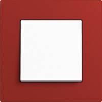 GIRA, Esprit, Цвет: Красный Linoleum-Multiplex / Белый матовый