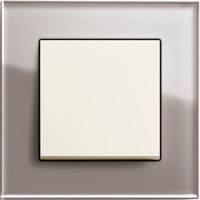 GIRA, Esprit, Цвет: Дымчатое стекло / Кремовый глянцевый