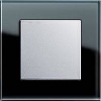 GIRA, Esprit, Цвет: Черное стекло / Алюминий
