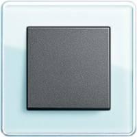 GIRA, Esprit, Цвет: Салатовое стекло Glass C / Антрацит
