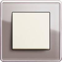 GIRA, Esprit, Цвет: Дымчатое стекло Glass C / Кремовый глянцевый