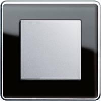 GIRA, Esprit, Цвет: Черное стекло Glass C / Алюминий