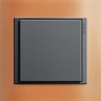 Gira Event Opaque. Цвет рамки: Оранжевый; Цвет вставки и клавиши: Антрацит