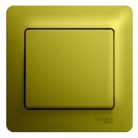 Schneider Electric, Glossa, Цвет: Фисташковый