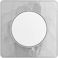 Scheider Electric, Odace, Цвет: Алюминий Martele (поверхность металл)