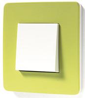 Schneider Electric, Unica Studio Color, Цвет: Зеленое яблоко/Белый