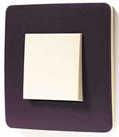 Schneider Electric, Unica Studio Color, Цвет: Лиловый/Бежевый