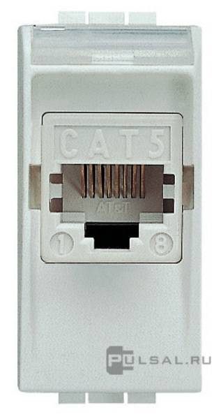 ������� ������������ RJ45 Cat.5e (UTP) LivingLight,  LivingLight AIR,  ���� - �����, ���������, N4261AT5, BTicino - PULSAL.RU